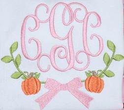 Girl's Thanksgiving Fall | Pumpkins with Monogram Frame Outfit