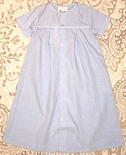 Delaney Monogrammable Blue Baby Infant Boy Gown, Day Gown, Sleeper
