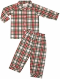 Delaney Monogrammable Christmas Plaid Pajamas PJs for Boys