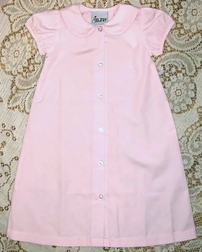 Delaney Monogrammable Pink Baby Infant Girl Gown, Day Gown, Sleeper