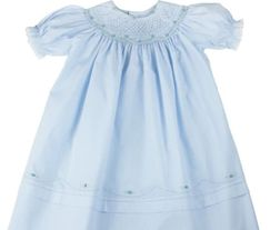 Feltman Brothers Bishop Smocked Pink or Blue Dress for Baby and Toddler Girls