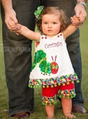 Girl's Very Hungry Caterpillar Dres or Swess Top and Trousers Outfit
