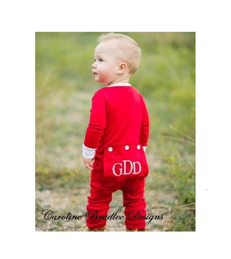 girls boys red butt flap back flap pajamas monogrammed christmas pajamas - Christmas Pajamas For Girls