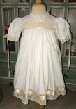 Heirloom dress, Easter dress flower girl dress Communion Confirmation dress vintage flower girl dress with French lace, entredeux and satin ribbon.