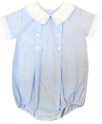 Light blue Bubble for Baby Boys | Peter Pan Collar | Children's Cottage
