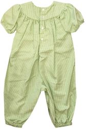 Petit Ami Monogrammable Lime Green Long Romper
