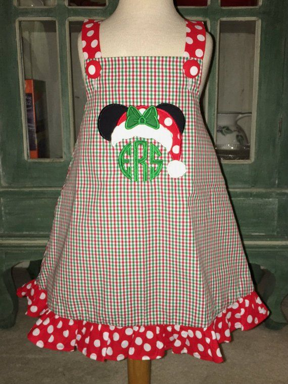 Minnie Mouse Christmas Dress.Girl S Christmas Minnie Mouse Peppermint Dress Or Outfit