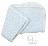 Paty, Inc. Baby Coming Home Swaddle Blanket in Blue with Blue Tatting Trim
