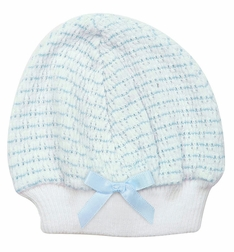Paty, Inc. Pink or Blue and White Baby Infant Girls and Boys Cap