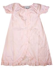 Delaney Pink Baby Infant Gown with Ruffles