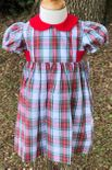 Vive La Fete Monogrammable Christmas Plaid Dress