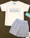 Claire & Charlie Smocked Boy's Brother Shirt and Shorts Outfit