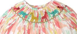 Girl Smocked Safari Friends Top & Pants Outfit | Children's Cottage