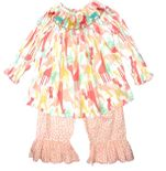 Girl Smocked Safari Friends Top & Pants Outfit   Children's Cottage