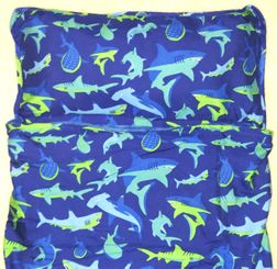 Stephen Joseph All Over Sharks Nap Mat for Preschool Day Care Kindergarten and Sleep Overs