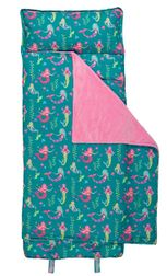 Stephen Joseph Monogrammable All Over Mermaids Nap Mat for Preschool Kindergarten Sleep Overs