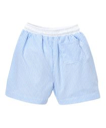 Sweet Dreams Monogrammable Light Blue Stripe Swimsuit Trunks for Boys