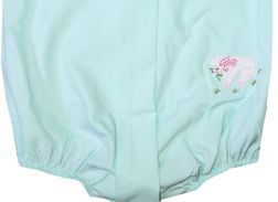 Sweet Dreams Mint Green Embroidered Lamb Bubble