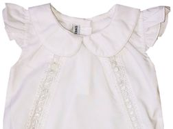 Sweet Dreams Monogrammable Lacey White Bubble with Lace Inserts