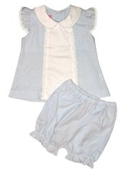 Claire & Charlie Infant Baby Bloomer Set with Swiss Eyelet and Ruffles