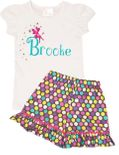 Disney Tinkerbell Fairy Peter Pan Personalized Name Shirt and Shorts or Capris