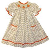 Vive La Fete Smocked Pumpkins Dress Perfect for Thanksgiving and Fall