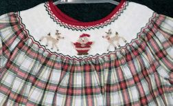Will'Beth Christmas Plaid Dress   Santa and Reindeer   Children's Cottage