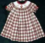 Will'Beth Christmas Plaid Dress | Santa and Reindeer | Children's Cottage