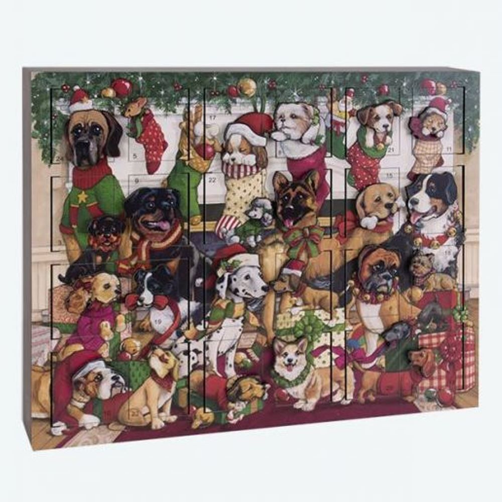 Byers Choice Advent Calendar - Dogs Advent Calendar