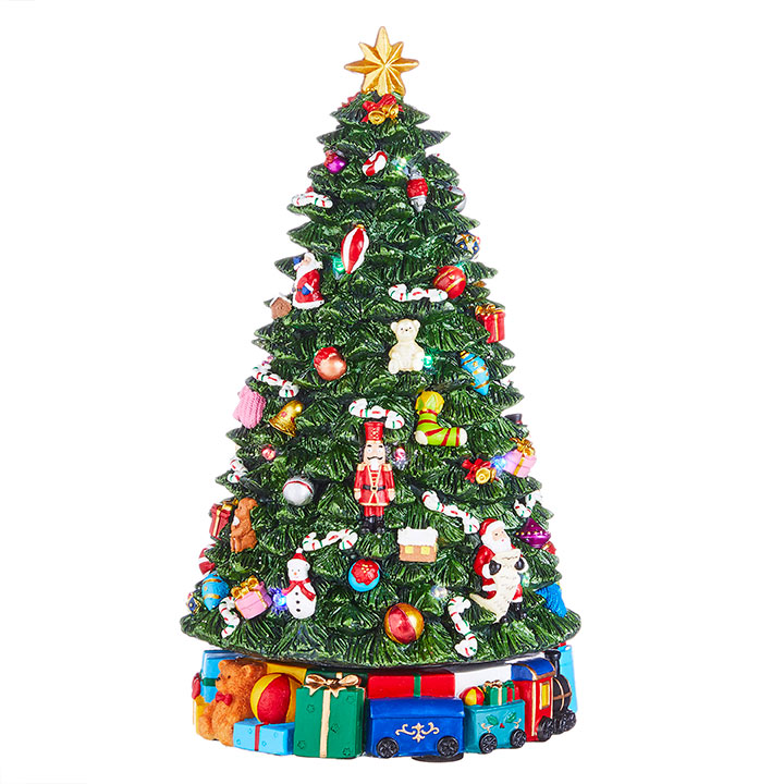Animated Musical Christmas Tree - Rotating - 13.75in