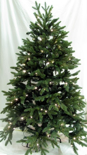 "Artificial Christmas Tree - ""Pre-lit LED Woodland Spruce Tree"" - 5 ft."