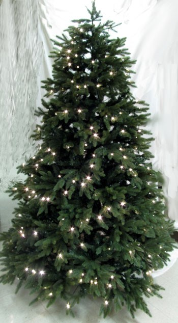 "Artificial Christmas Tree - ""Pre-lit LED Woodland Spruce Tree"" - 7 ft."