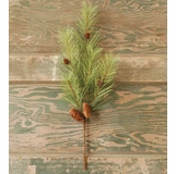 Artificial Stem - Northern Soft Pine with Cones- 24 Inch