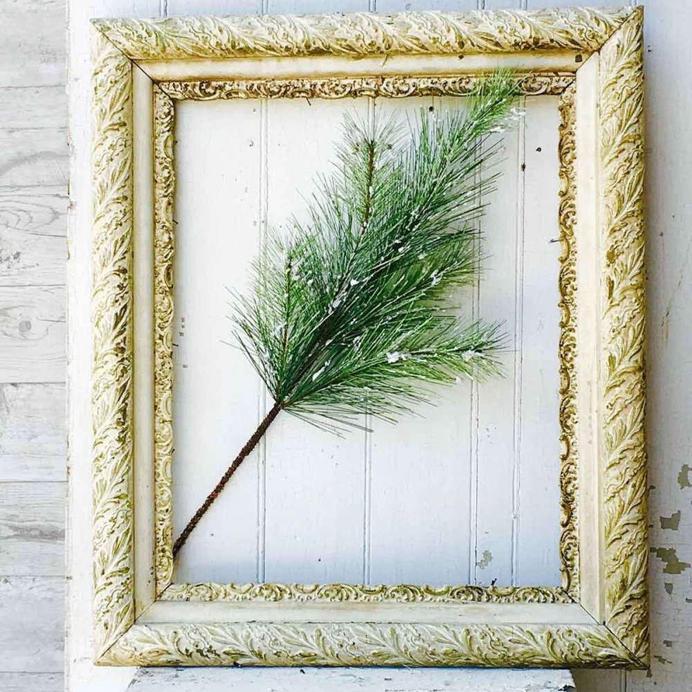 Artificial Stem - Silver Fir with Snow - 24 Inch