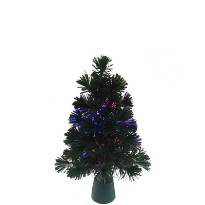Artificial Tree - Fiber Optic Green Christmas Tree With LED Color Changing Lights - 18in