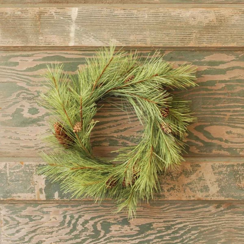 Long Needle Pine Candle Ring - 6in