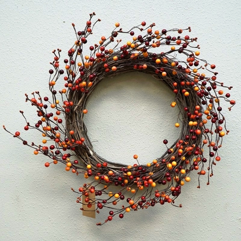 "Artificial Wreath - ""Spice Berry Wreath"" - 20"""