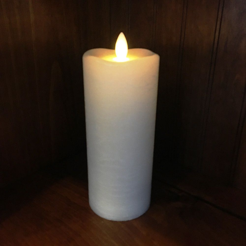 Flameless Pillar Candle - Mirage Gold - Cream - 7in x 3in