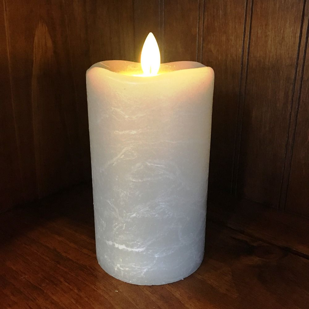 Flameless Pillar Candle - Mirage Gold - Warm Sand - 5in x 3in
