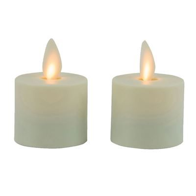 Flameless Tealight Candle - Mystique - Ivory - 1.5in - 2pk
