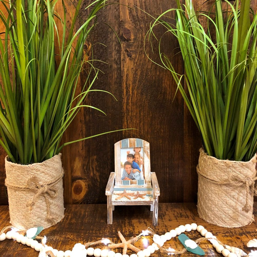Beach Picture Frame - Beach Chair - Holds 2.5in x 3.5in Photo