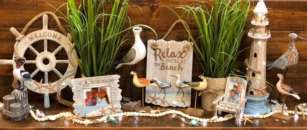 Beach Wall Decor - Shore Birds - Relax You're At The Beach - 15.5in