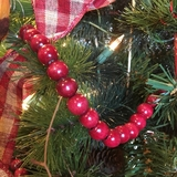 Beaded Garland - Burgundy Wood Bead - 9ft