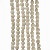 Beaded Garland - Natural Wood Bead - 9ft