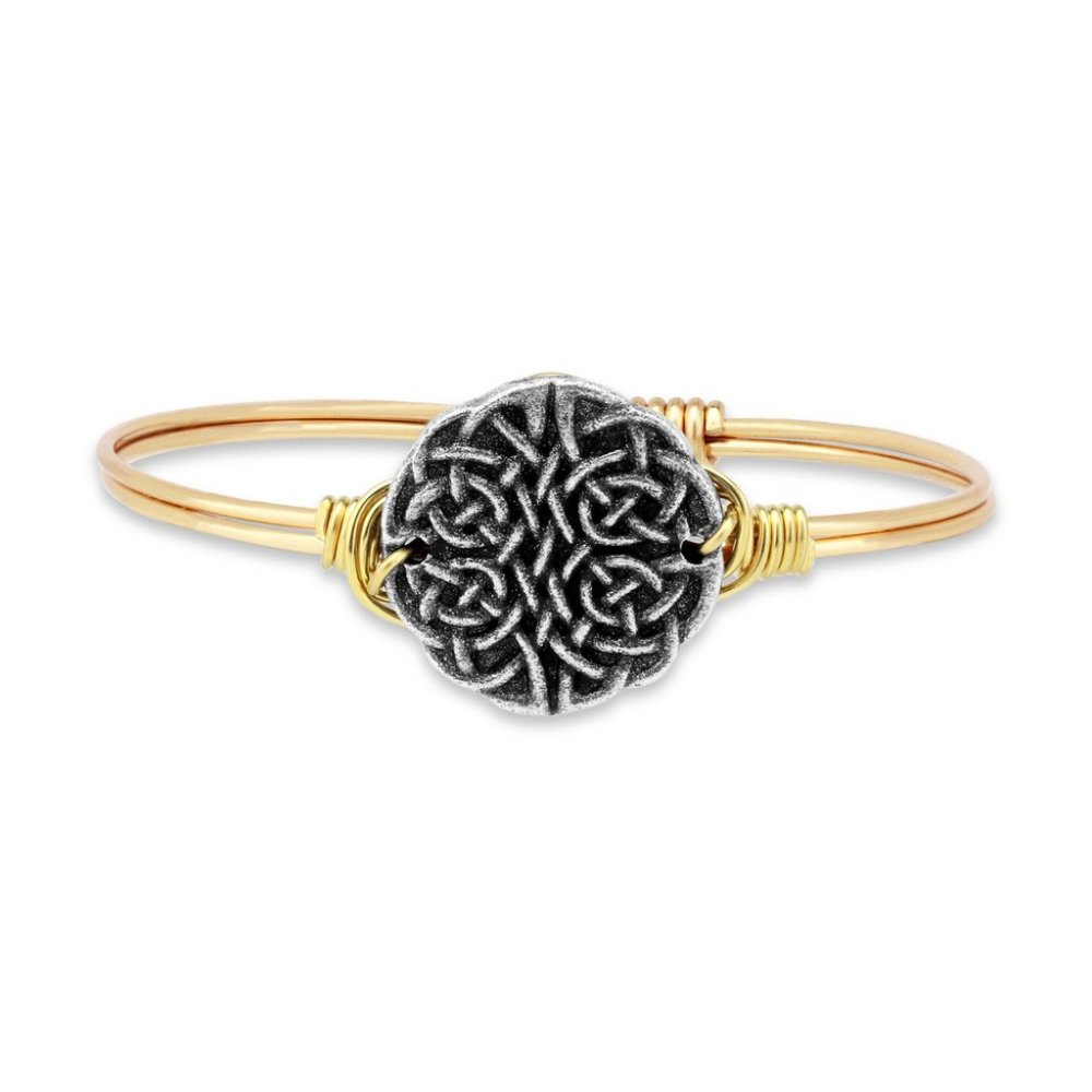 Luca + Danni Bracelet - Journey Knot Bangle - Brass