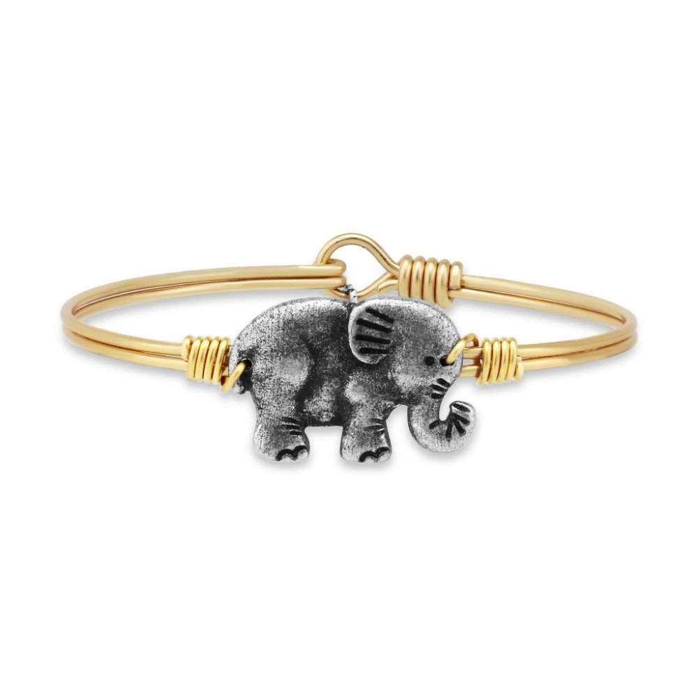 Luca + Danni Bracelet - Elephant Bangle - Brass
