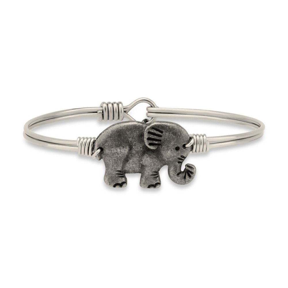 Luca + Danni Bracelet - Elephant Bangle - Silver