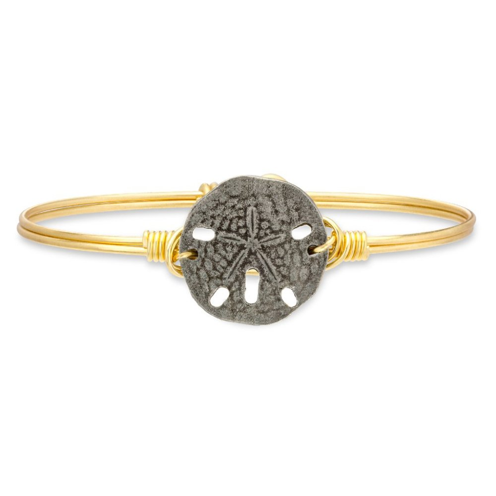 Luca + Danni Bracelet - Sand Dollar Bangle - Brass