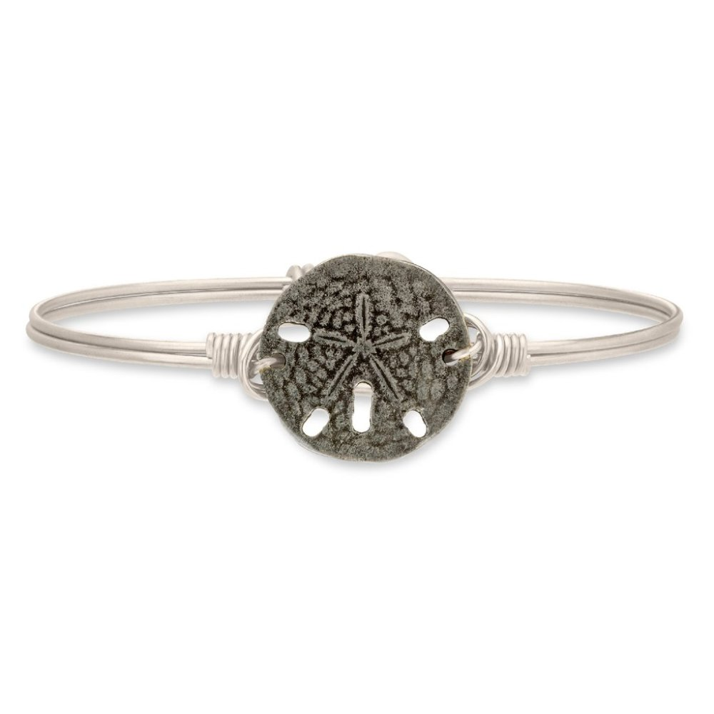 Luca + Danni Bracelet - Sand Dollar Bangle - Silver