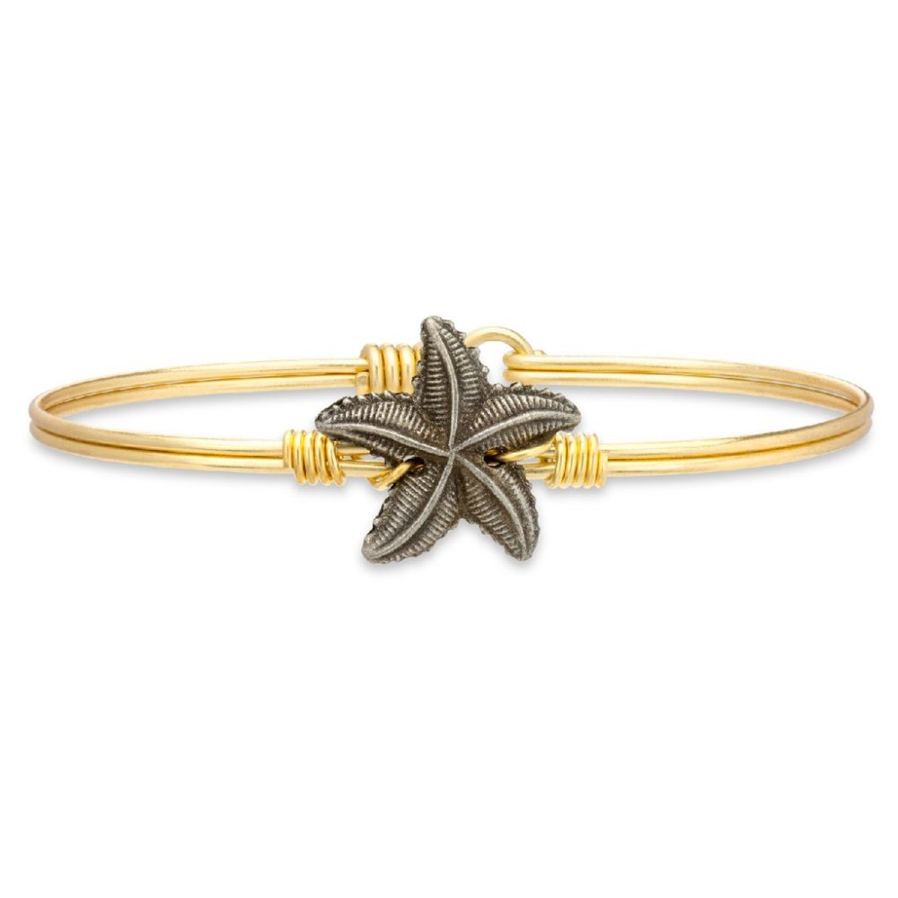 Luca + Danni Bracelet - Starfish Bangle - Brass